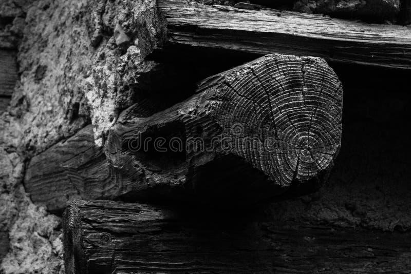 Vägg och gammalt trä arkivbild