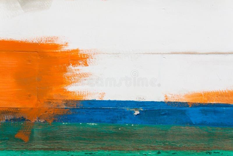 Download Vägg Som Målas I Vitt, Blått, Grönt Och Orange Arkivfoto - Bild av smutsigt, tappning: 27277708