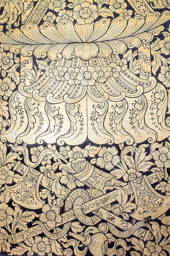 Vägg- thai n-kyrka royaltyfri fotografi