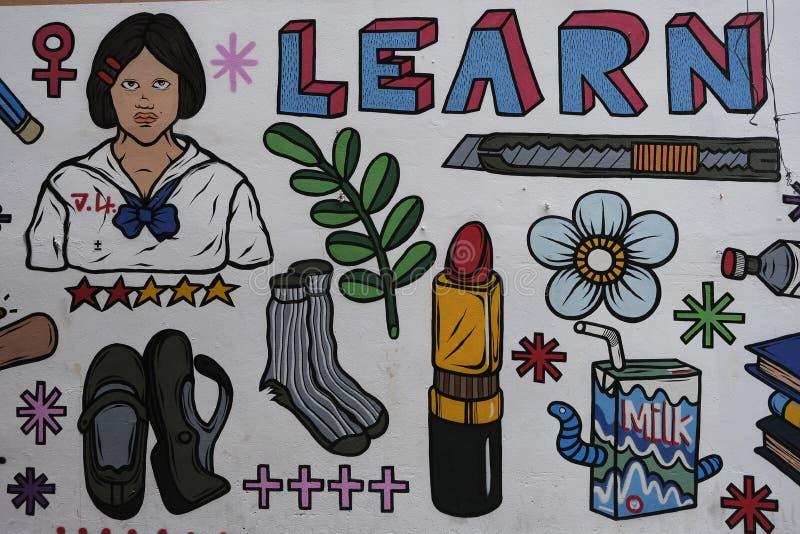 Vägg- 'universal av liv 'vid Channalong Krugioed stock illustrationer
