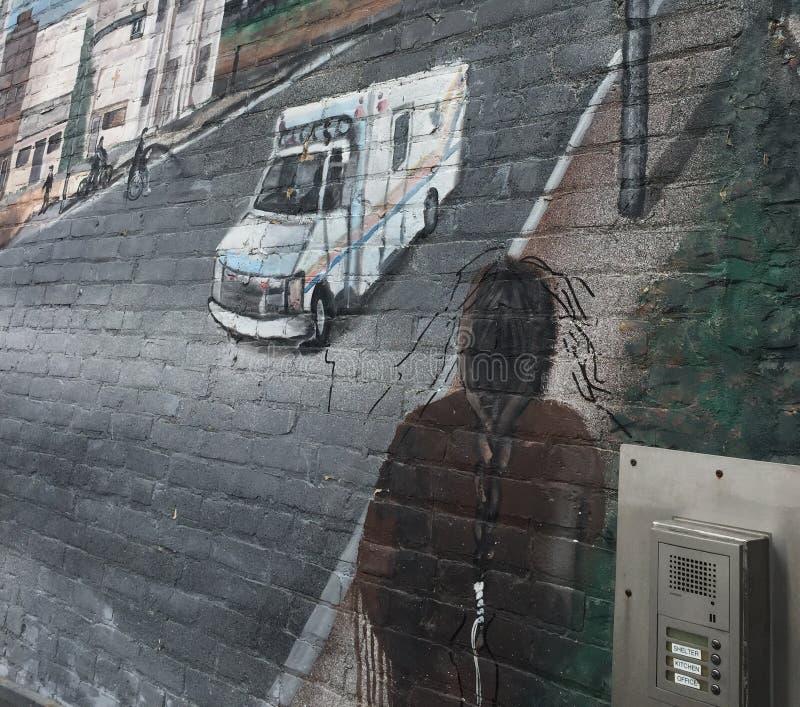 Vägg- Winnipeg för vägg projekt royaltyfri bild