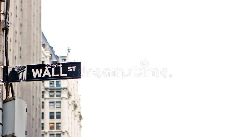 vägg york för manhattan ny teckengata royaltyfri foto