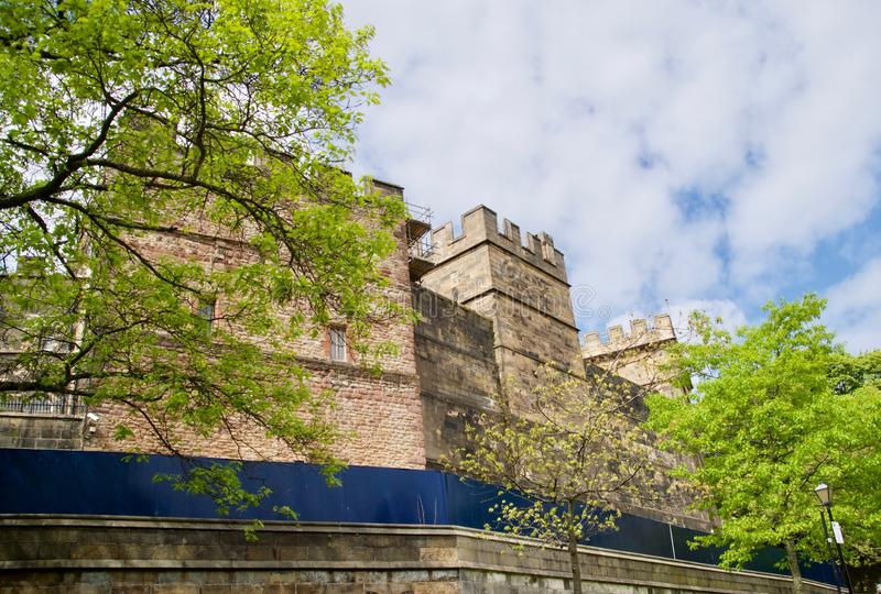 V?ggar av den Lancaster slotten arkivbilder