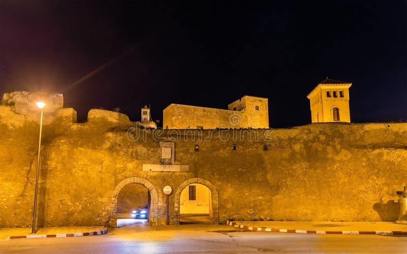 Väggar av den portugisiska staden av Mazagan på El-Jadidia, Marocko royaltyfria foton