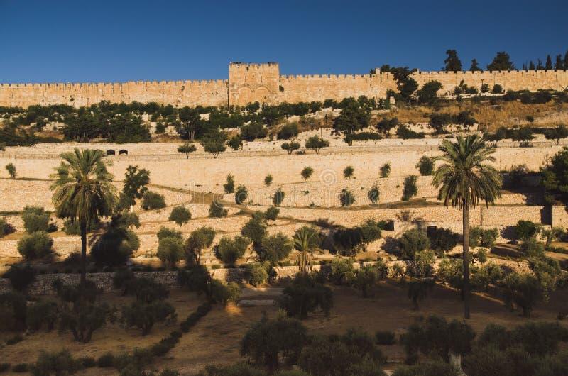 Väggar av Jerusalem, Israel royaltyfria foton