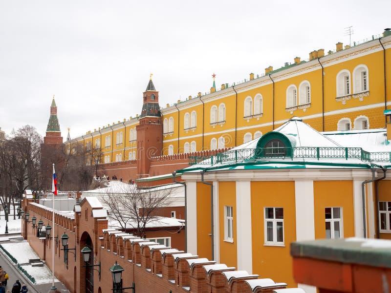 Väggar av MoskvaKreml arkivbilder