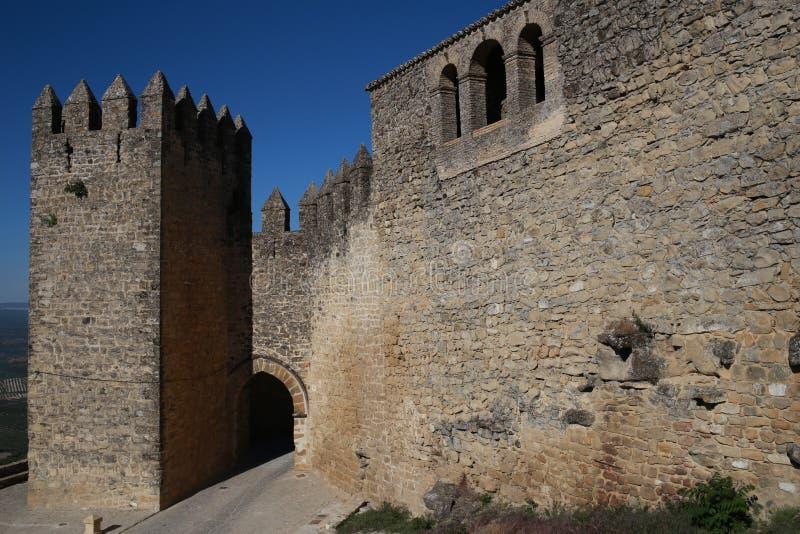 Väggar av Sabiote, by av Jaen, i Andalusia royaltyfria bilder