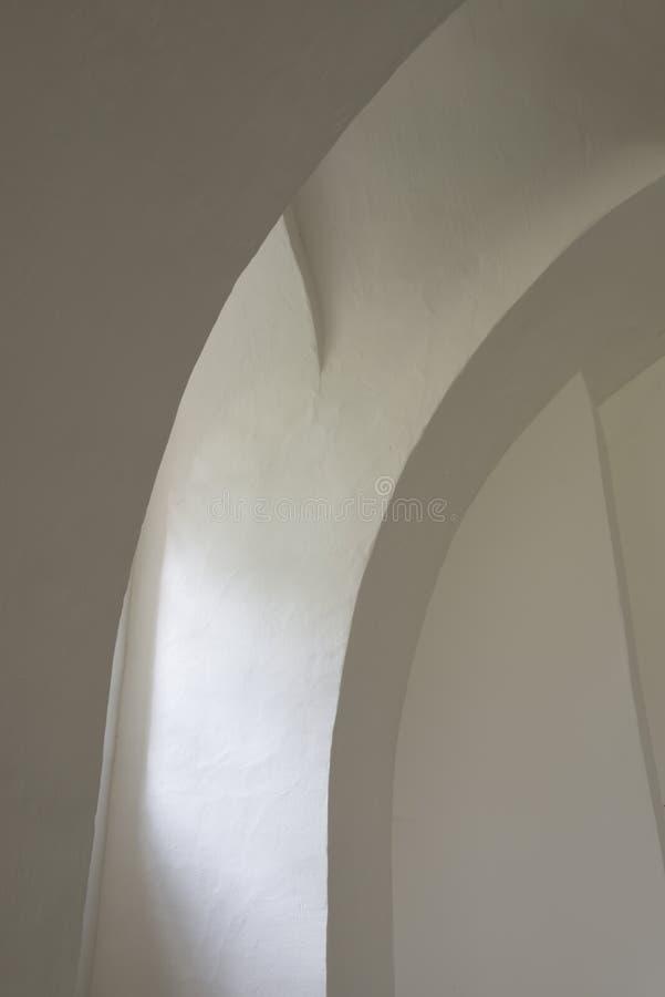 Väggar i kyrka arkivbild