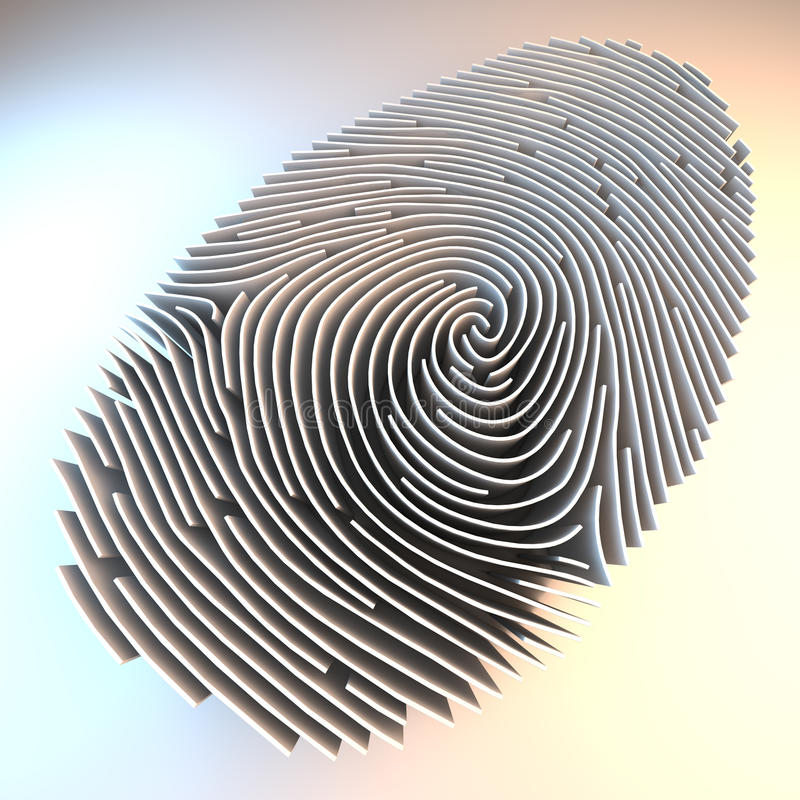 Väggar som ska identifieras med fingeravtryck vektor illustrationer