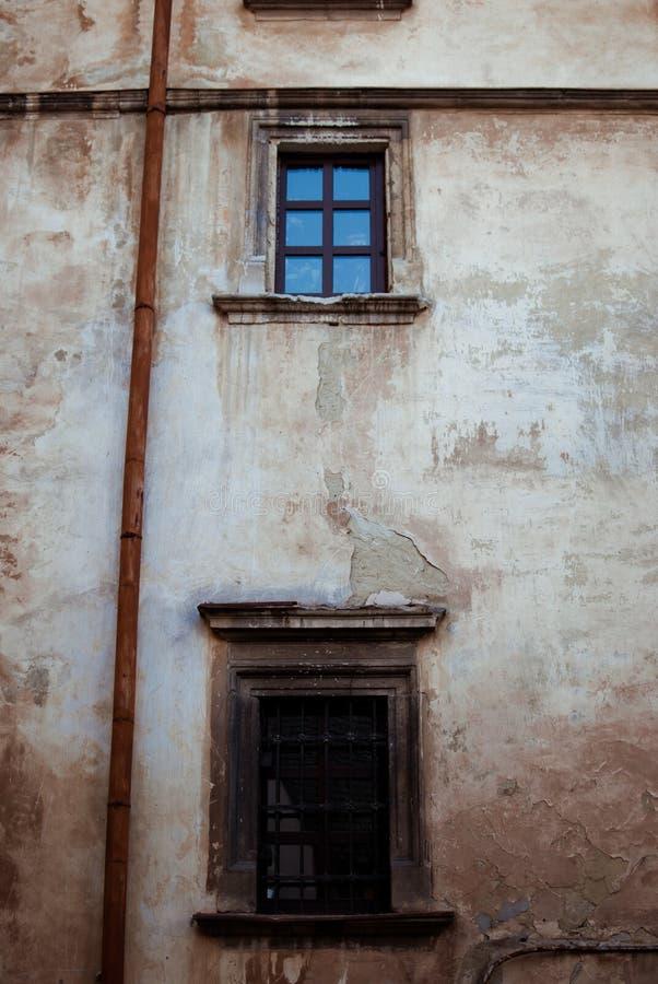 Väggen av huset fotografering för bildbyråer