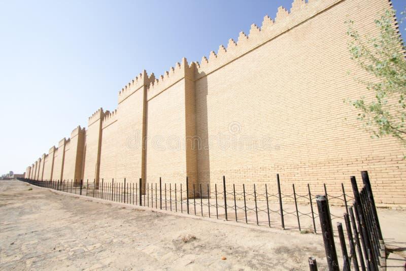 Väggen av staden av Babylon royaltyfria foton