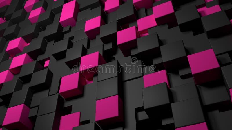 Väggen skära i tärningar geometrisk bakgrund vektor illustrationer