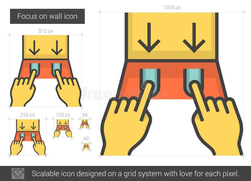 Väggfokuslinje symbol vektor illustrationer