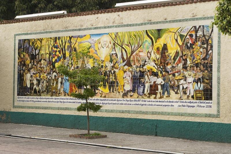 Väggmålning av Diego Rivera royaltyfria foton