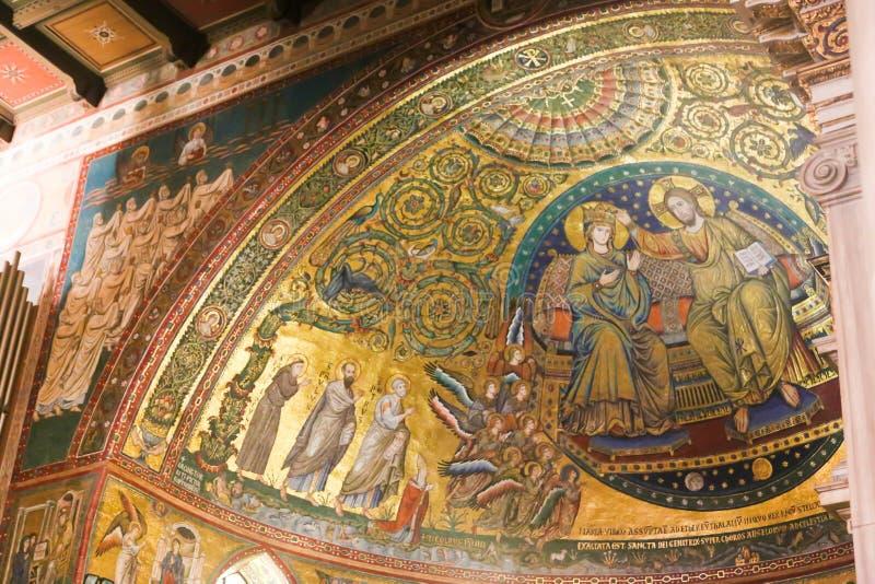 Väggmålningar av St Peter Basilica, Vaticanen arkivfoto