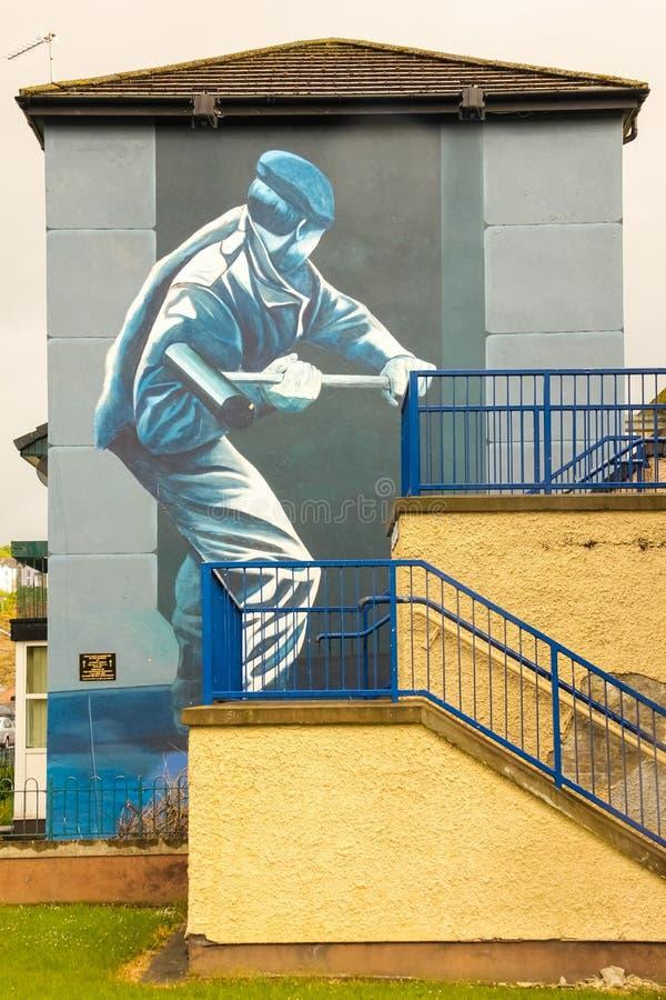 väggmålningar Derry Londonderry Nordligt - Irland förenat kungarike fotografering för bildbyråer