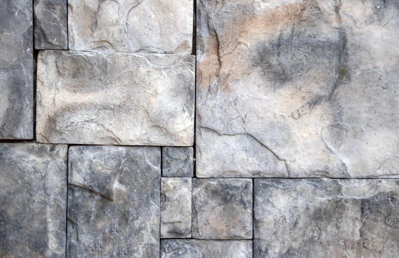 Väggmurverk av stora naturliga stenar royaltyfri fotografi