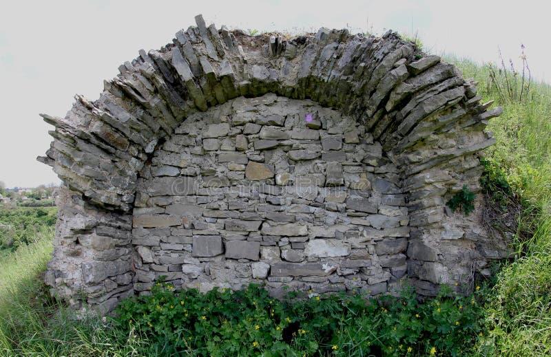Väggsom är inklusive i katakomber royaltyfria bilder