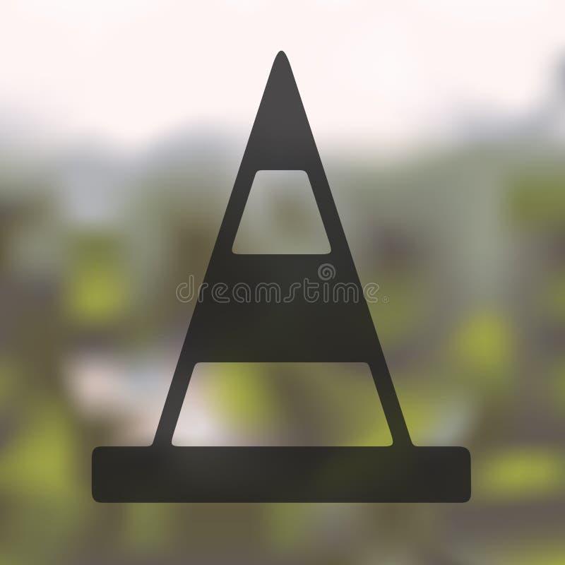 Vägkottesymbol på suddig bakgrund vektor illustrationer
