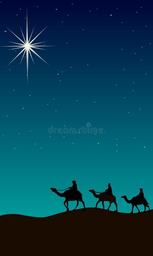 vägledande lampa för jul royaltyfri illustrationer