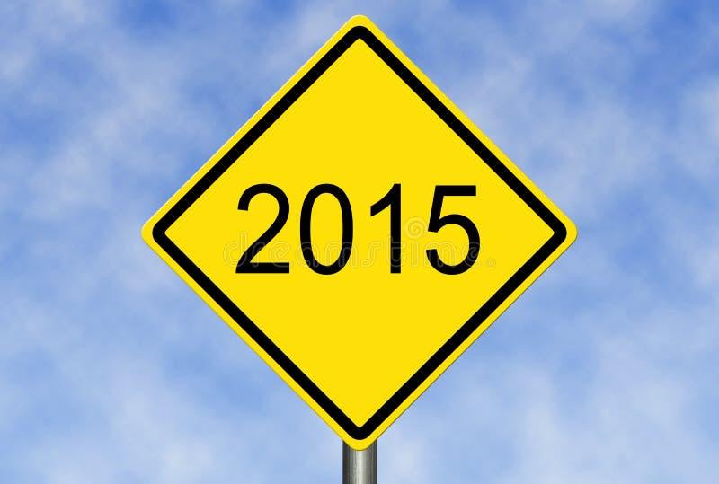Vägmärke 2015 royaltyfria bilder