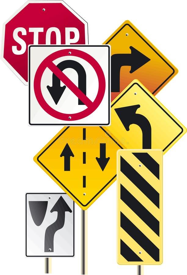 vägmärke royaltyfri illustrationer