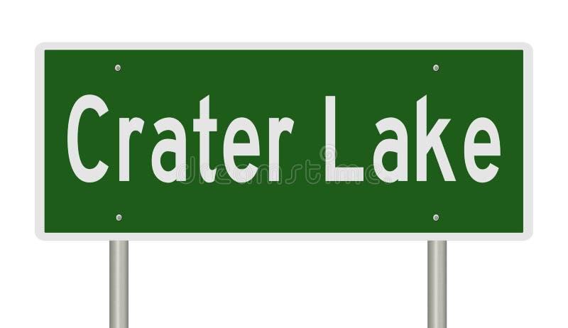 Vägmärke för krater sjönationalpark vektor illustrationer