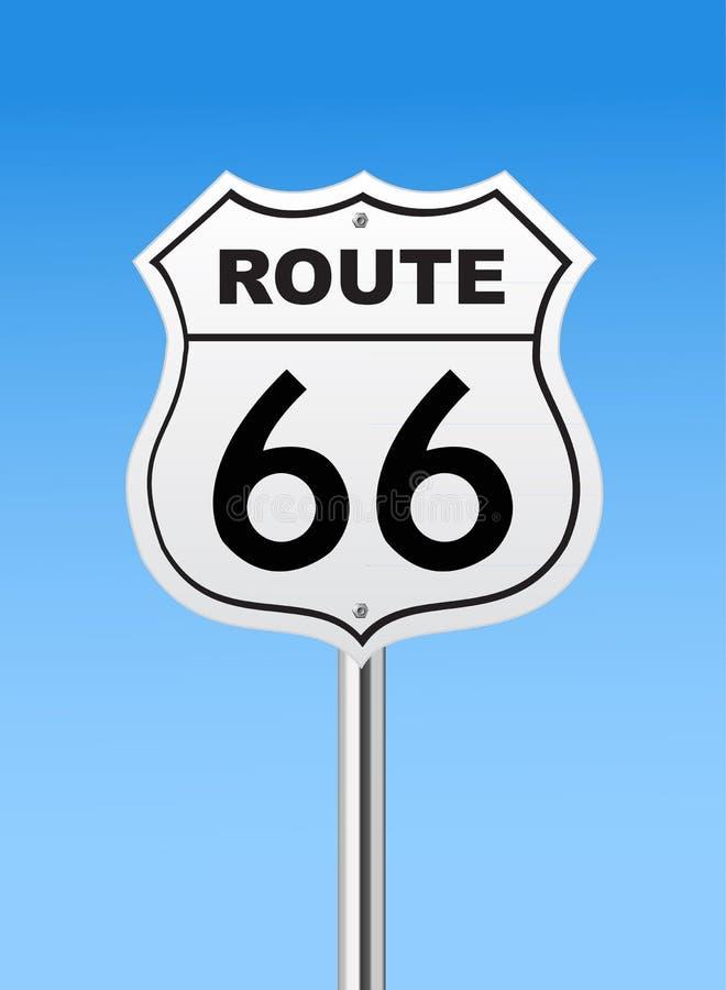 Vägmärke för Route 66 vektor illustrationer