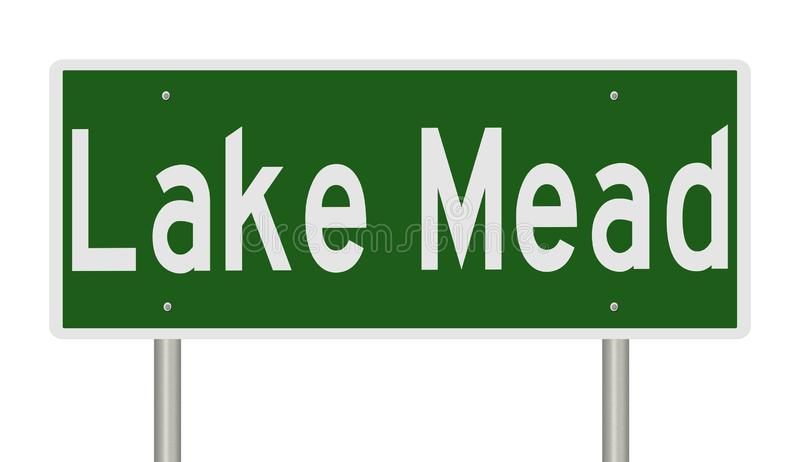 Vägmärke för sjön Mead Nevada vektor illustrationer