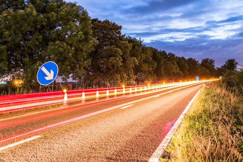 Vägmärke för UK-Motorwayservice royaltyfria foton