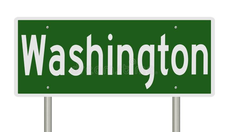 Vägmärke för Washington stock illustrationer