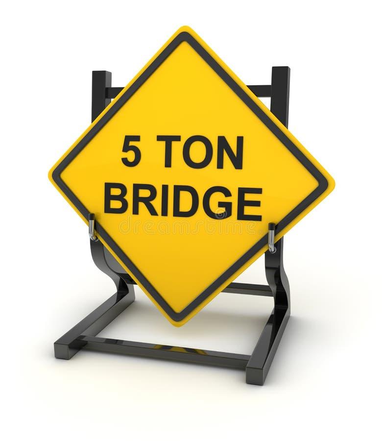 Vägmärke - 5 ton bro vektor illustrationer