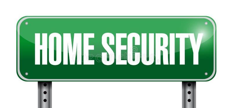 Vägmärkeillustration för hem- säkerhet royaltyfri illustrationer