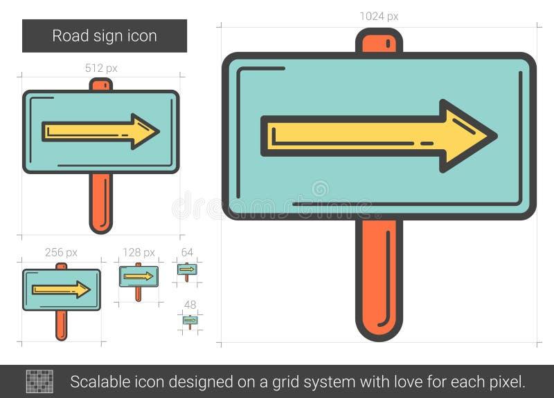 Vägmärkelinje symbol stock illustrationer