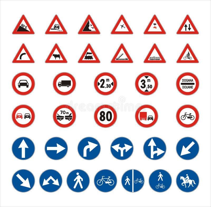 vägmärken stock illustrationer