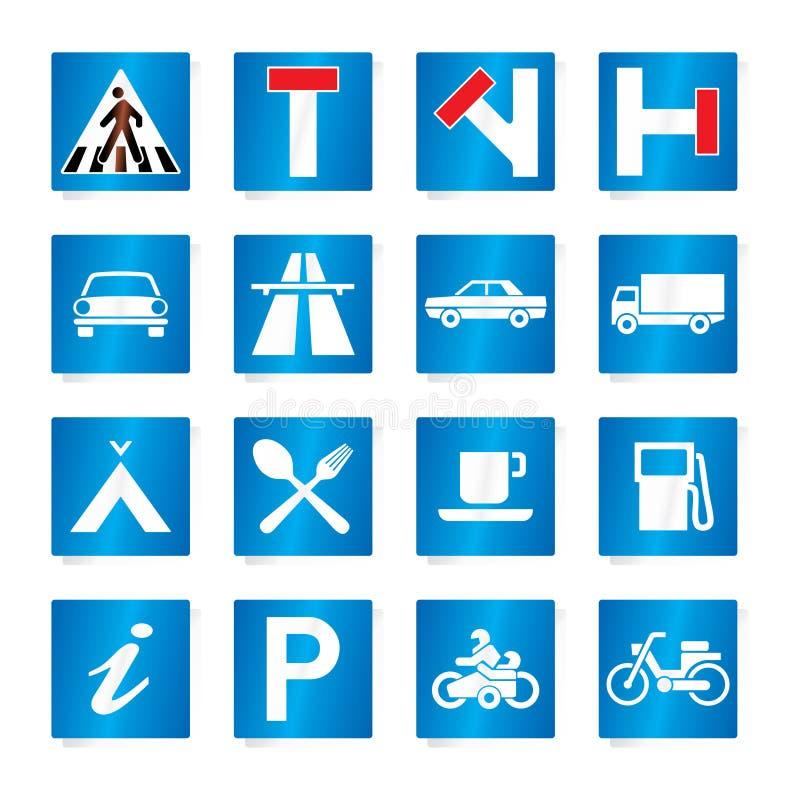 vägmärken royaltyfri illustrationer