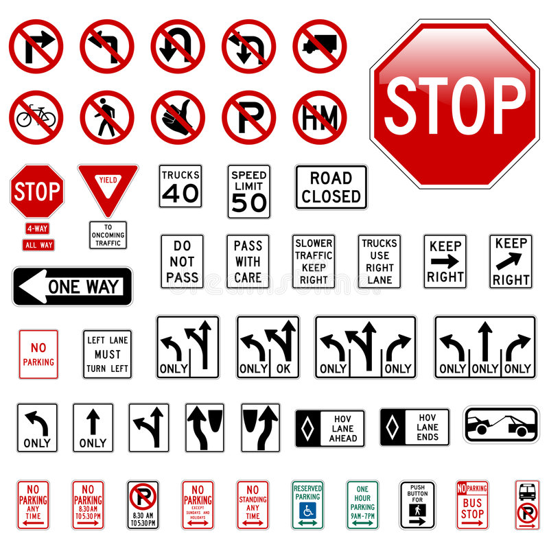 vägmärken vektor illustrationer