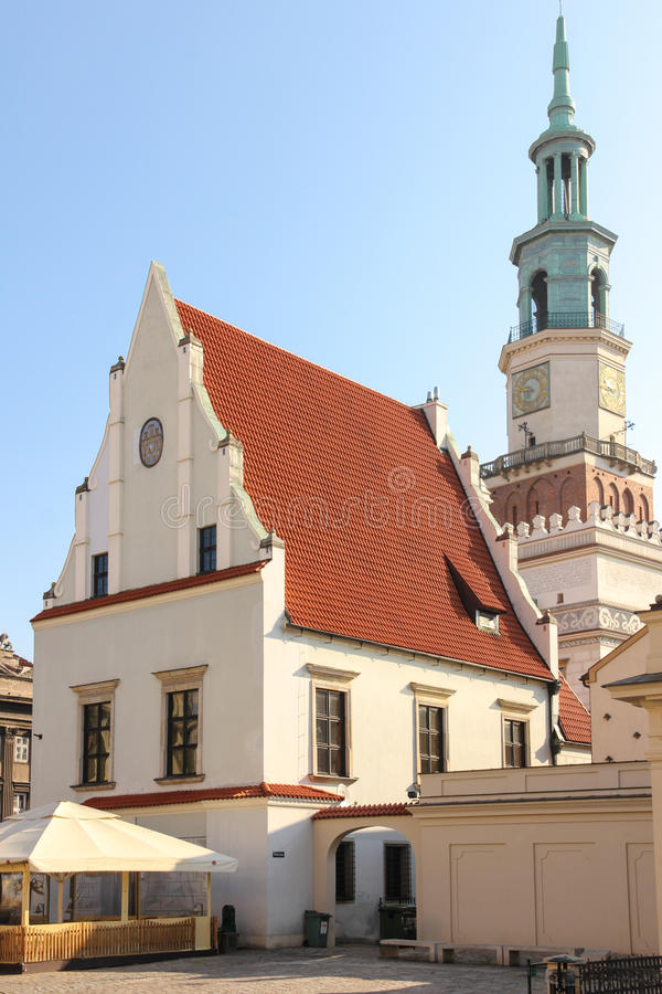 Vägningshuset eller vägningshus. Poznan. Polen royaltyfri bild