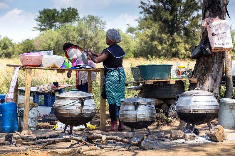 Vägrenmatstall i Sydafrika royaltyfri bild