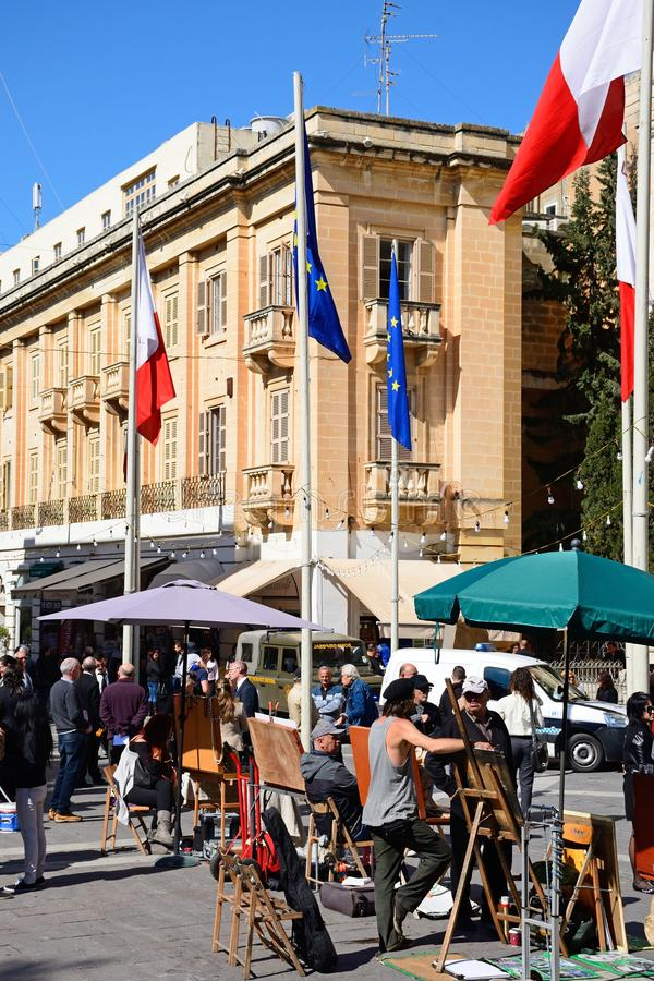 Vägrenstalls, Valletta royaltyfri fotografi