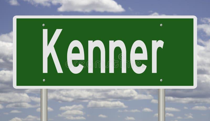Vägskylt för Kenner royaltyfria foton