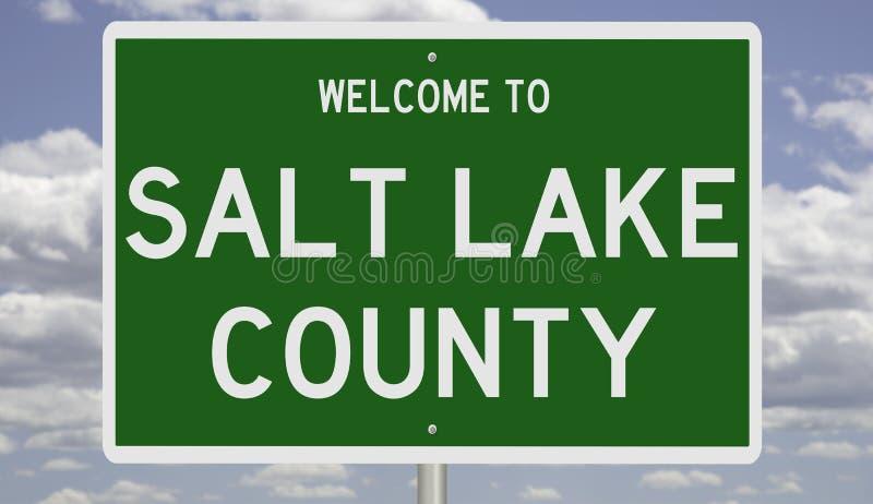 Vägskylt för Salt Lake County royaltyfri foto