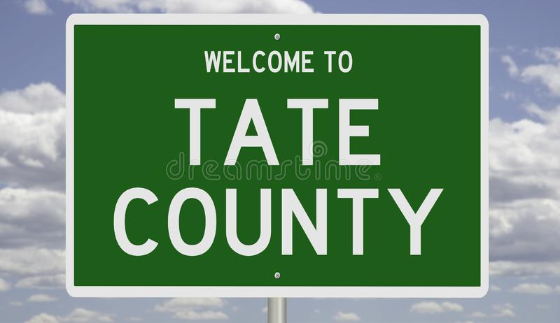 Vägskylt för Tate County royaltyfria bilder