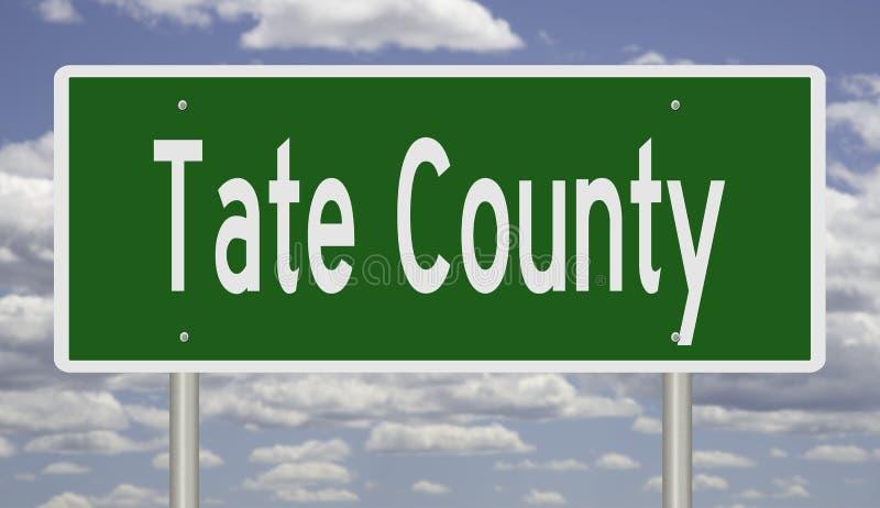 Vägskylt för Tate County arkivbilder