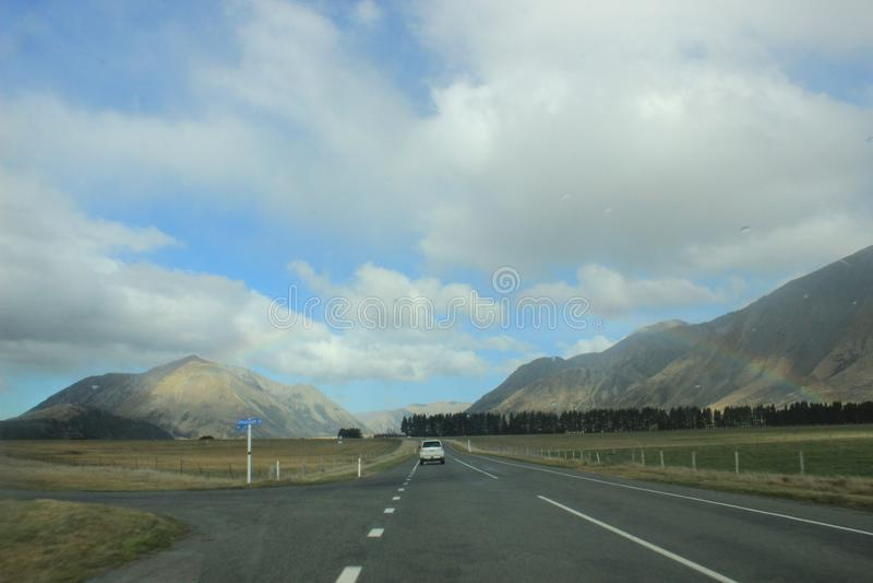 Vägtur i Nya Zeeland arkivfoto