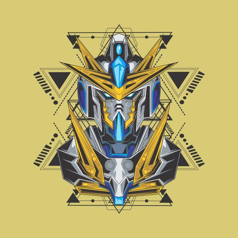 väldig gundam och sakral geometri royaltyfri illustrationer
