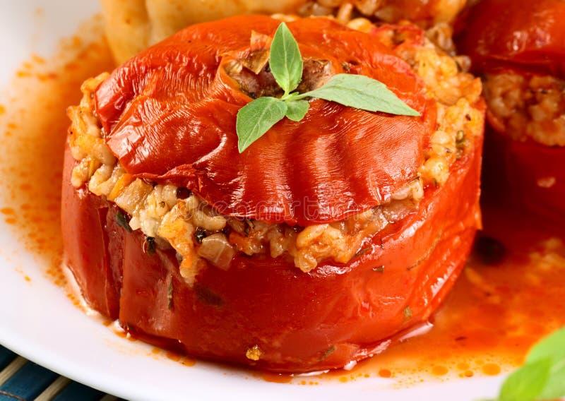 välfylld tomat arkivfoton