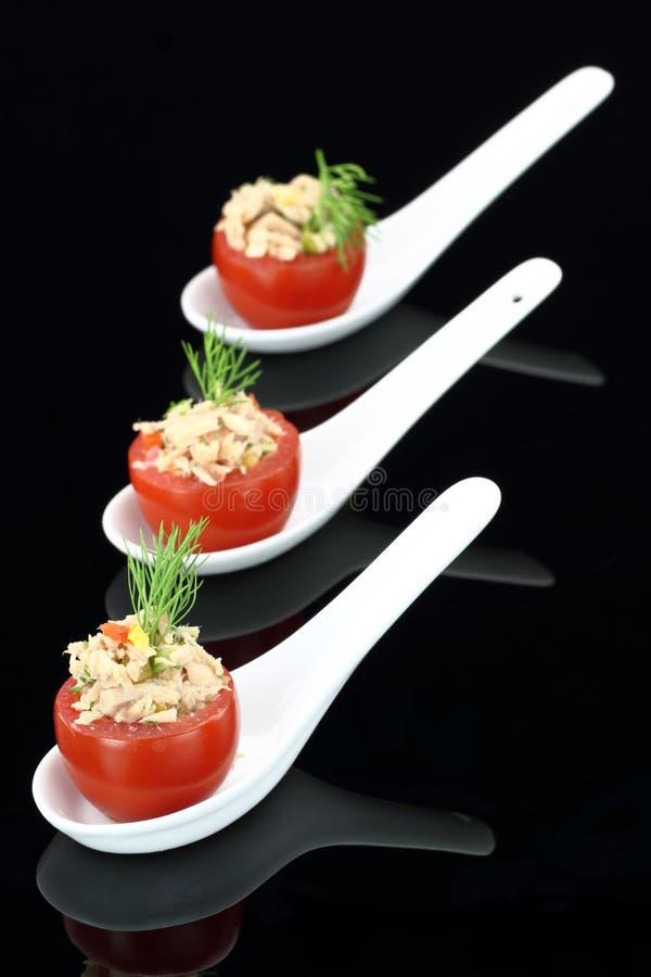 välfylld tomattonfisk arkivbild