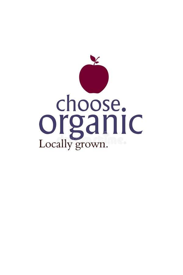 Välj organiskt väljer hälsa royaltyfri illustrationer