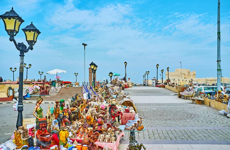 Välj souvenir från Alexandria, Egypten royaltyfria foton